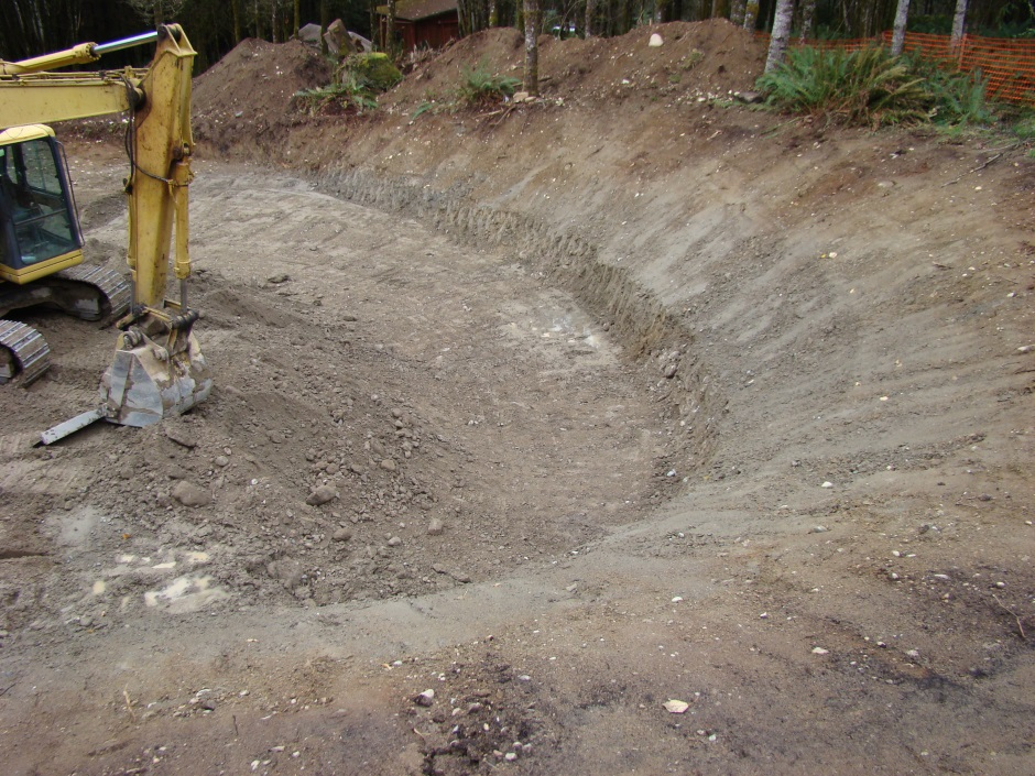Excavation ring of cut