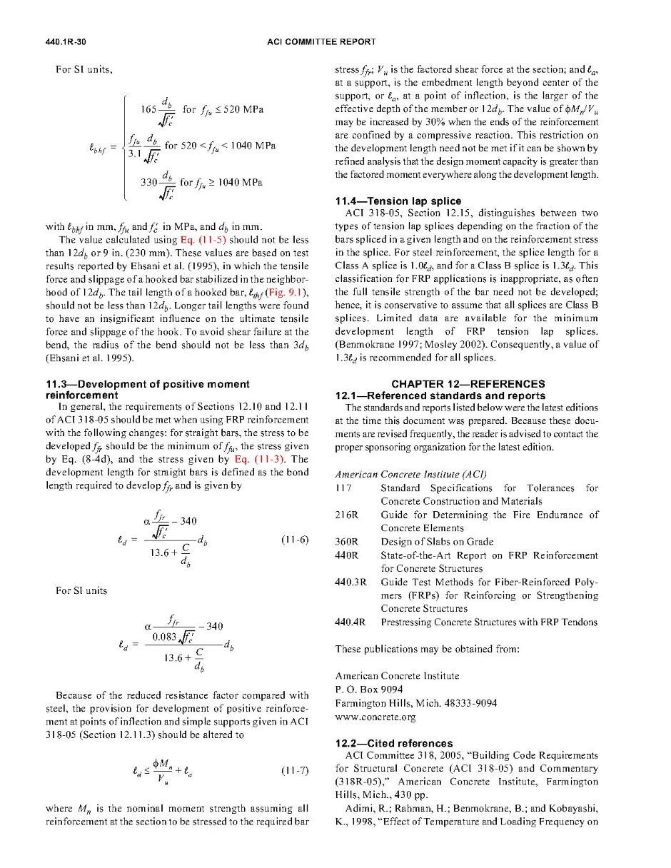 Basalt Rebar Design - ACI 440.1R-06