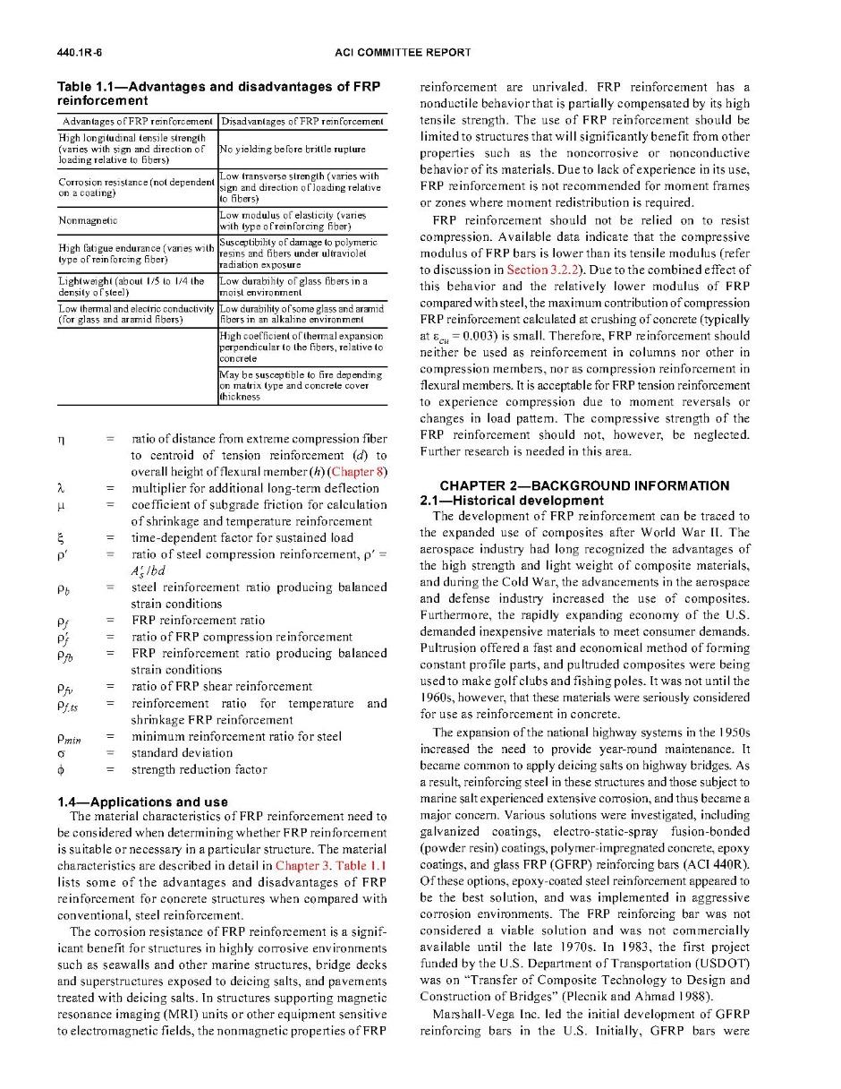 Basalt Rebar Design - ACI 440 1R-06