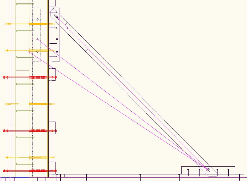 Angled Bracing Cad Drawing