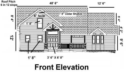 Sample Front Elevation Training : House blueprints examples