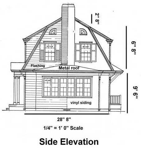 House blueprints examples blueprint example side elevation malvernweather Choice Image