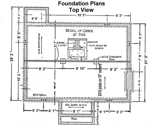 House blueprints examples blueprint example foundation plan malvernweather Choice Image