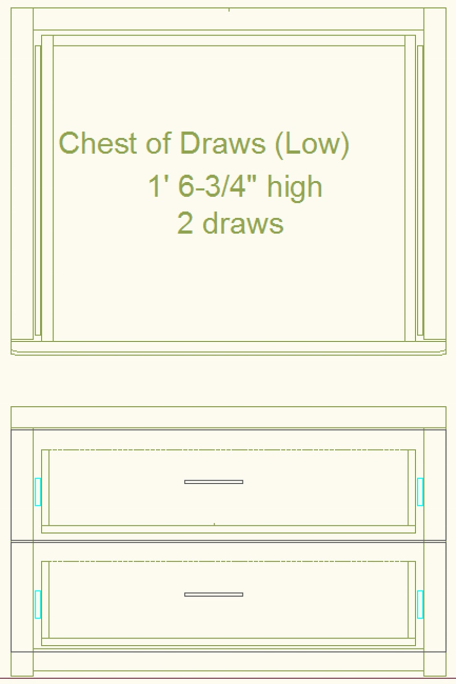 Chest Of Draws Drawing Low