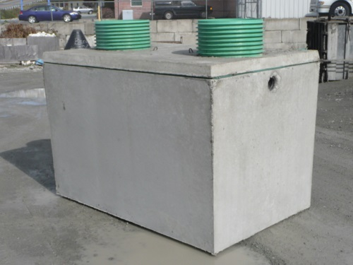 Sewage system component parts for How big septic tank do i need
