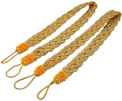 Curtain Ties Gold