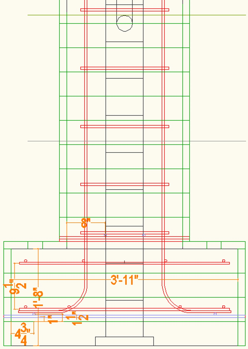 Deck Column Drawing Elevation