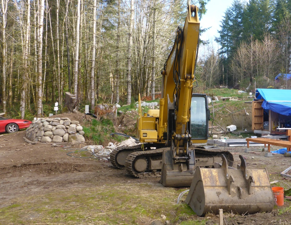 Digger On Driveway
