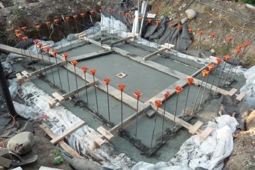 Foundation foundation concrete pour for Pouring a basement