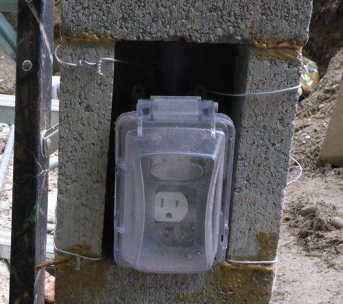 Electrical Power Outlet On Lamppost