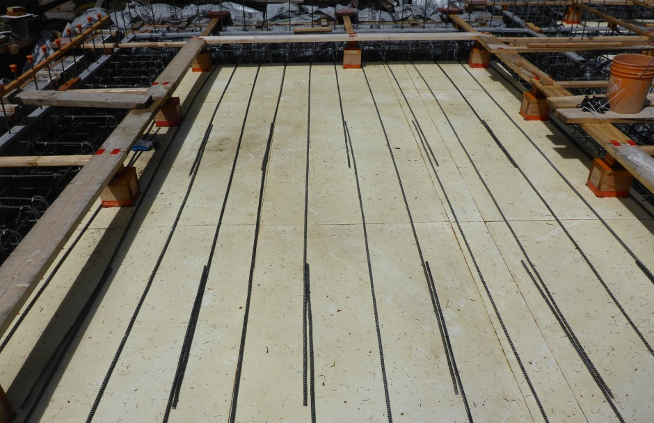 First Slab Rebar Layer North South Laid Out