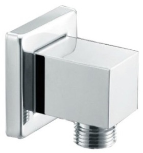 Flexible shower wall elbow