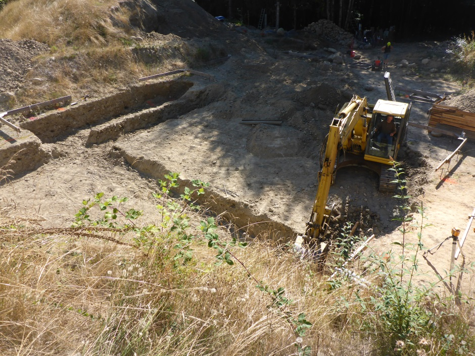 Footing Excavation From North East Above