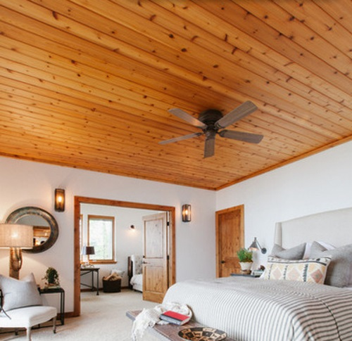 Interior Design Wood Plank Ceiling