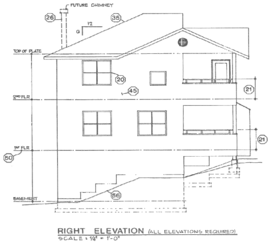 House blueprints examples 2 elevations malvernweather Choice Image