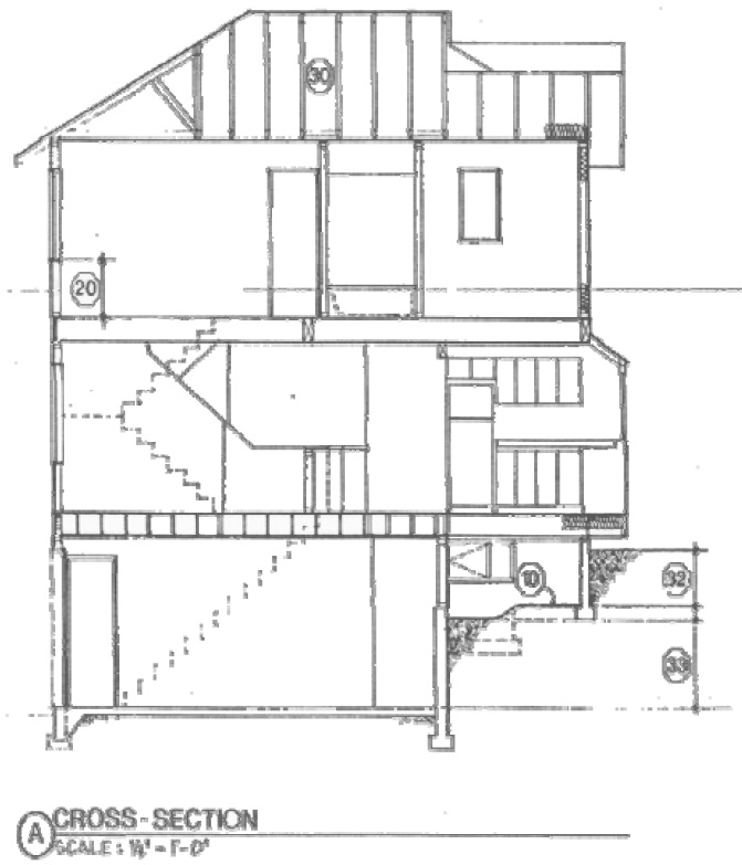 Elevation Plan And Cross Section : House blueprints examples