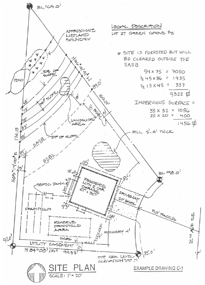 King county site plan template plan template Residential building plan sample