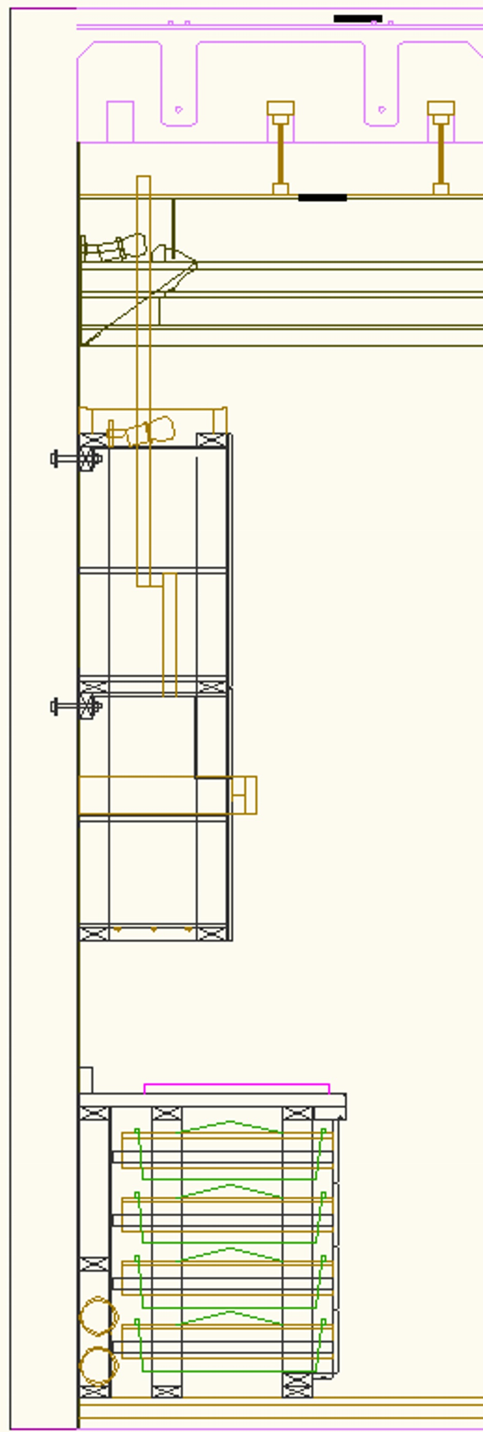 Kitchen Drawing Elevation Cabinet Side