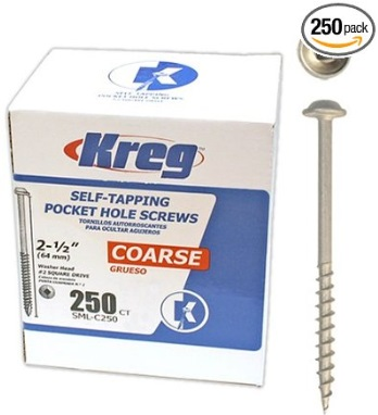 Kreg 2-1/2 Course Washer Head 250 Pack