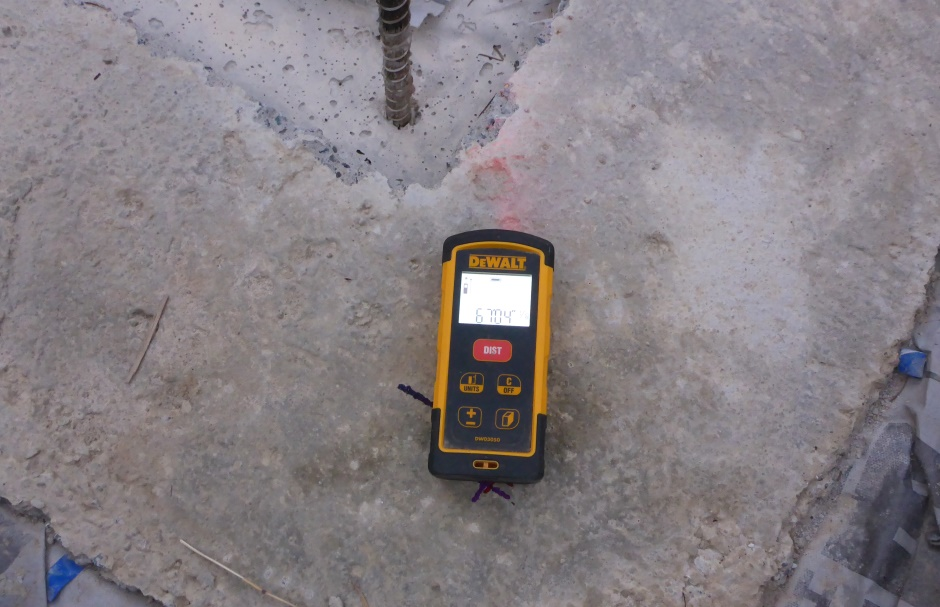 Laser Measure Slab Diagonal