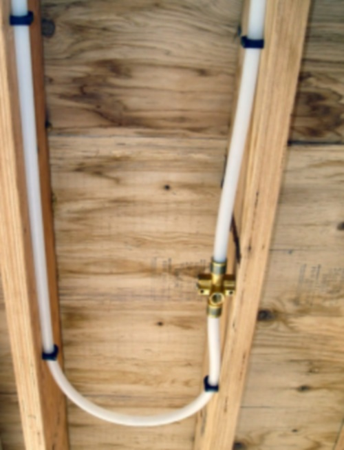 Fire sprinklers for Pex pipe freeze protection