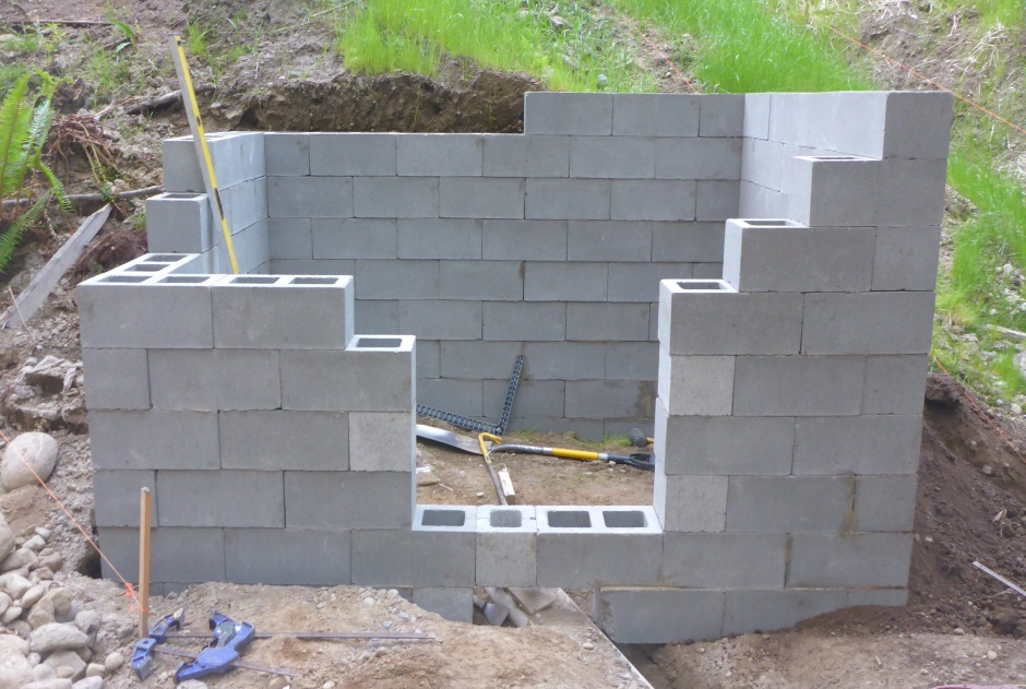 Concrete block sheds for How to build a cinder block house