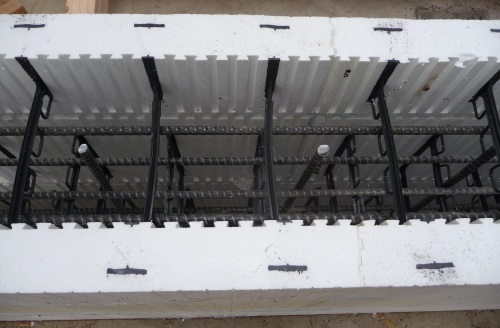 Basement Walls And Ceiling Icf Rebar Bucking Bracing