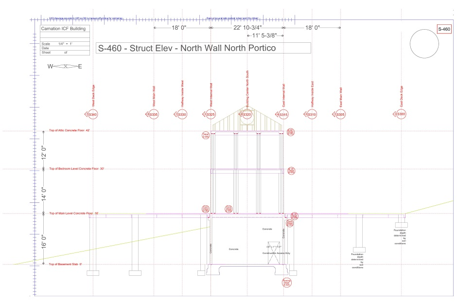 Structural engineering drawing