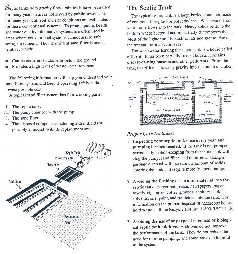 Septic Care Leaflet