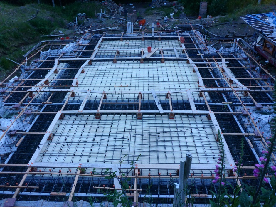 Site Part Way Upper Slab Rebar