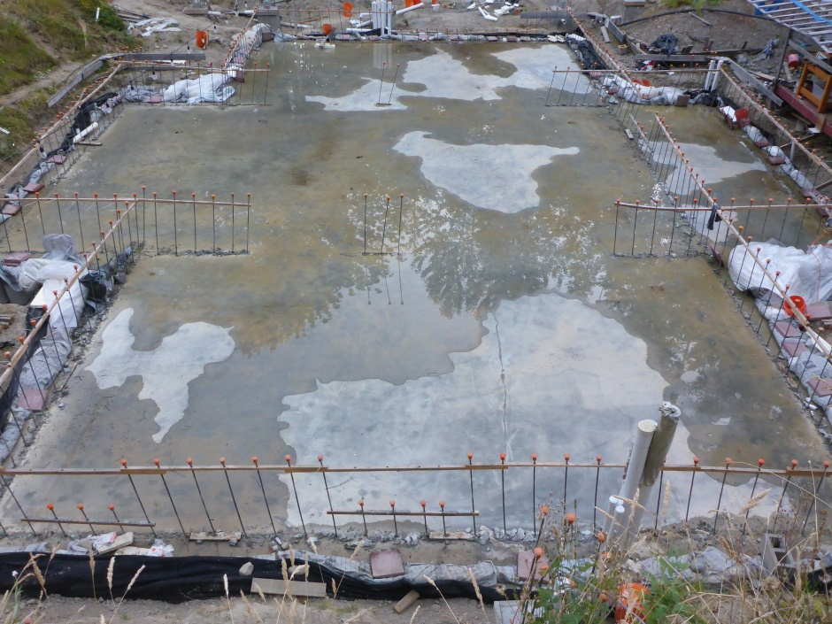 Site Slab Drying End July 25