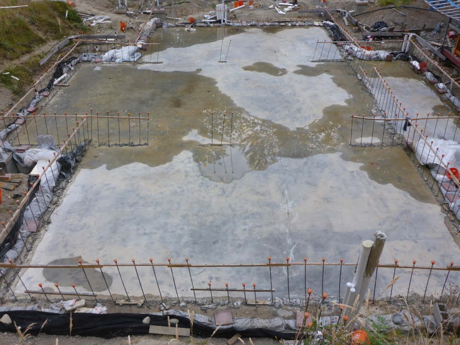 Site Slab Drying End July 26