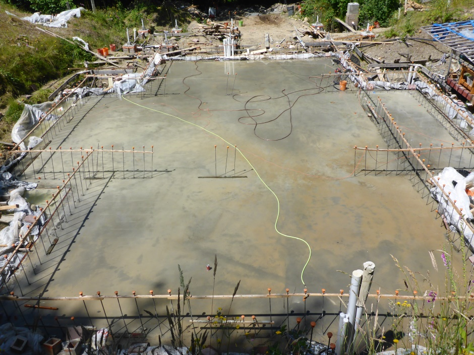 Site Slab Flooded To Cure