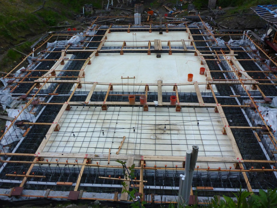 Site Started Slab Rebar First Layer