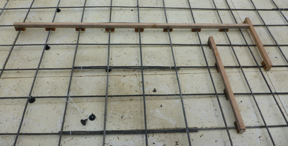 Slab Rebar Jigs To Get Foot Spacing