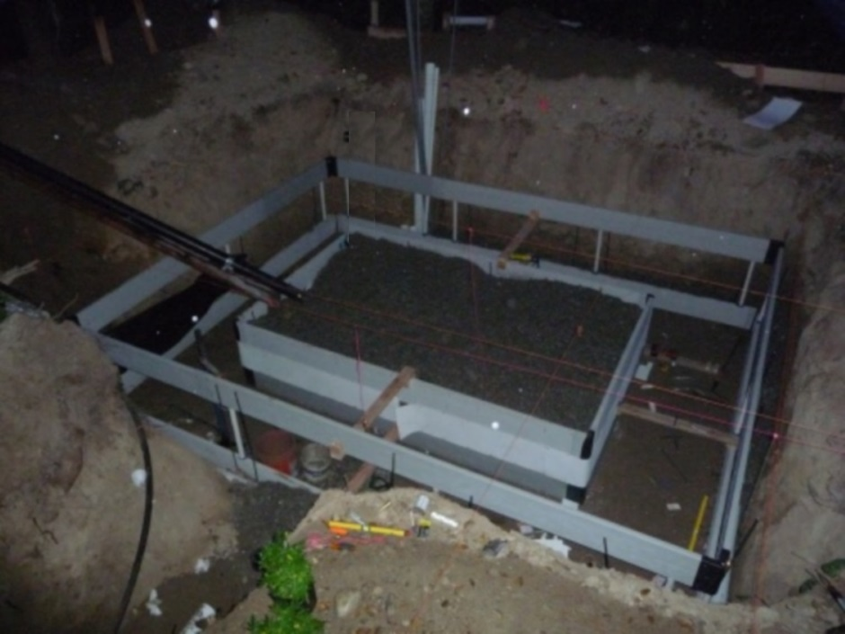 Eval build - Foundation Form-a-drain done