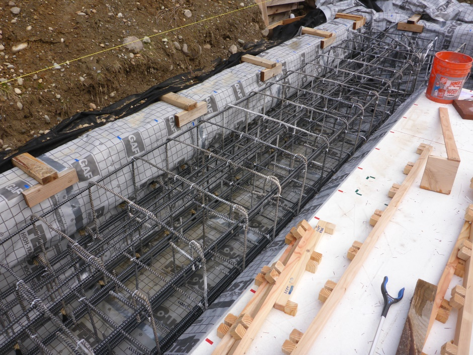 Stirrup Assemblies In Trench Tied