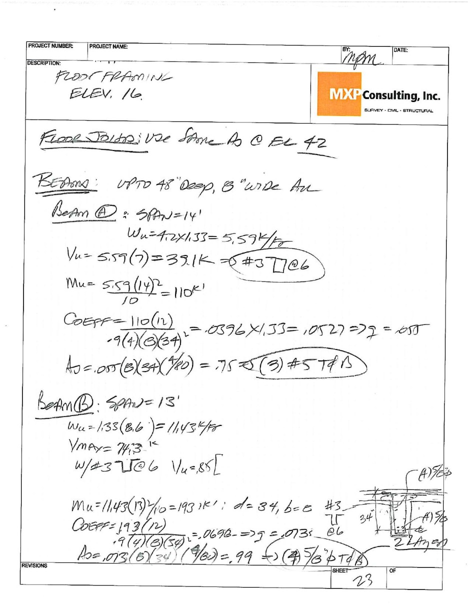 Structural calculations
