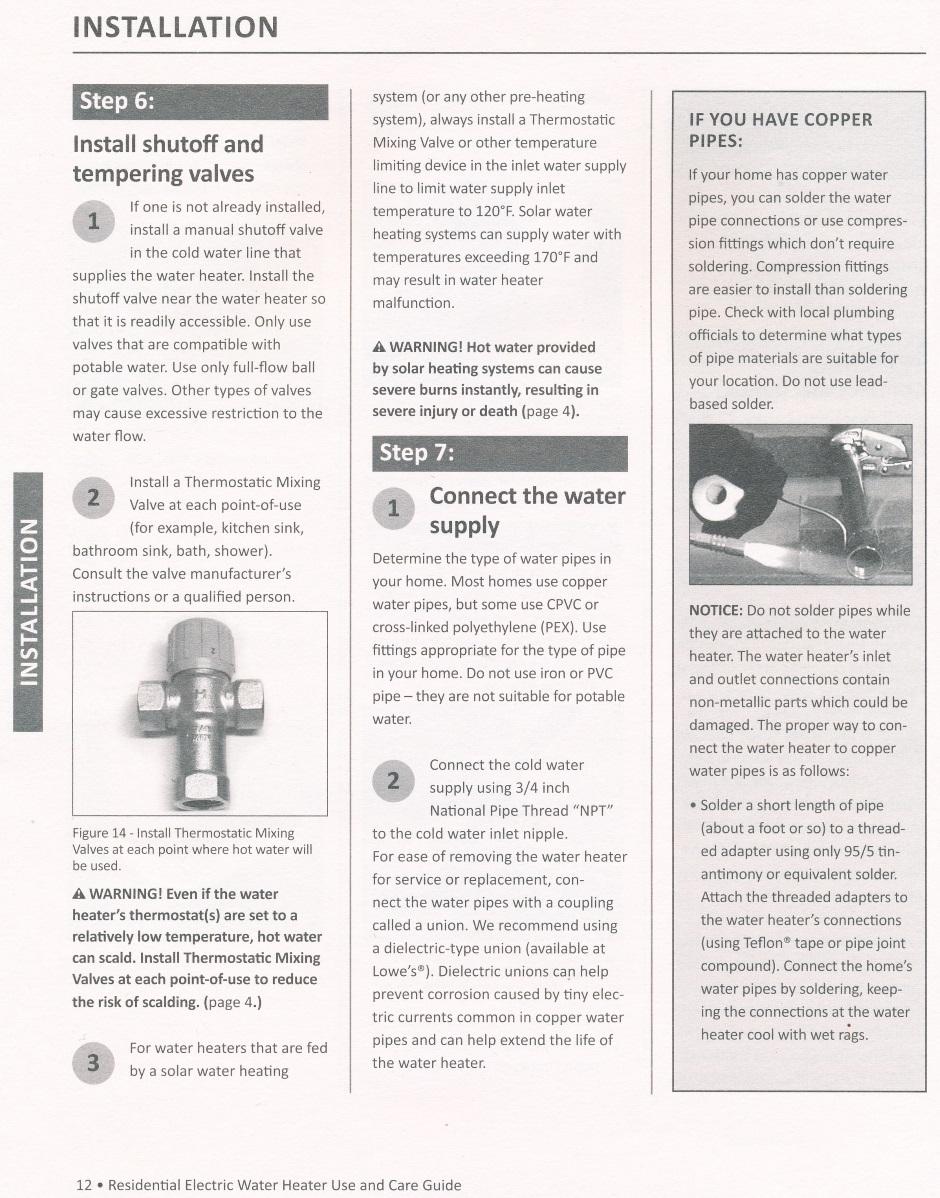 Heating Water Heater Large Shower Electric Wiring Diagram Aosmith Manual 12