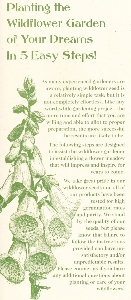 Wild Flower Planting Instructions
