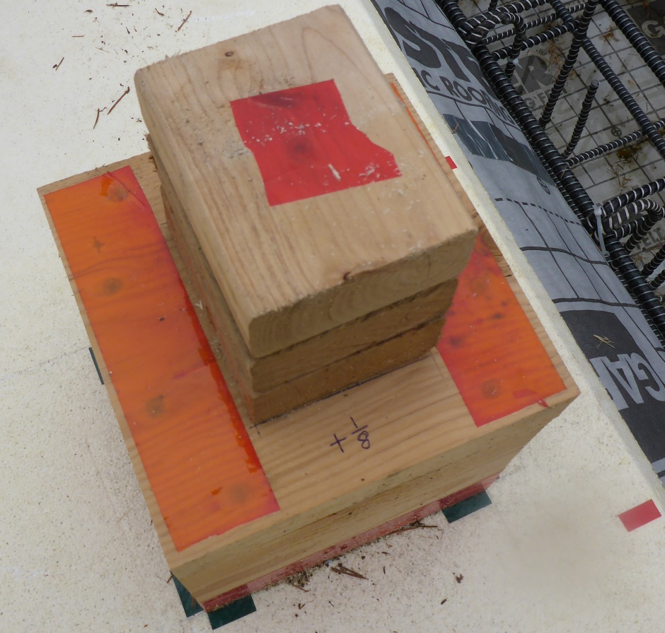 Wood Cube Height Marking 1/8in